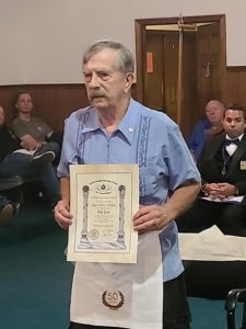 Br. Blake Bagwell with his 50 Year Certificate.